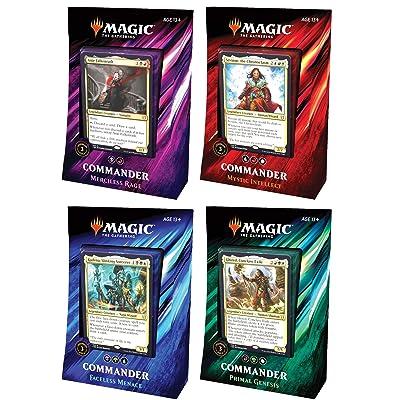 MTG Magic The Gathering 2020 Commander Set - All 4 Decks: Toys & Games