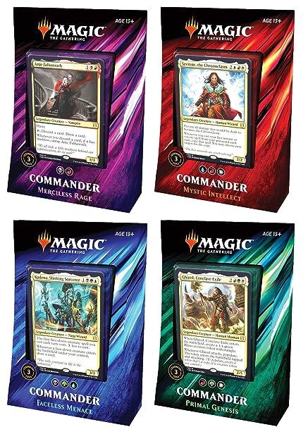 Amazon com: MTG Magic The Gathering 2019 Commander Set - All