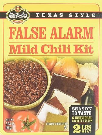 Amazon Com Wick Fowler S False Alarm Mild Chili Kit 3 03 Oz Pack Of 2 Grocery Gourmet Food