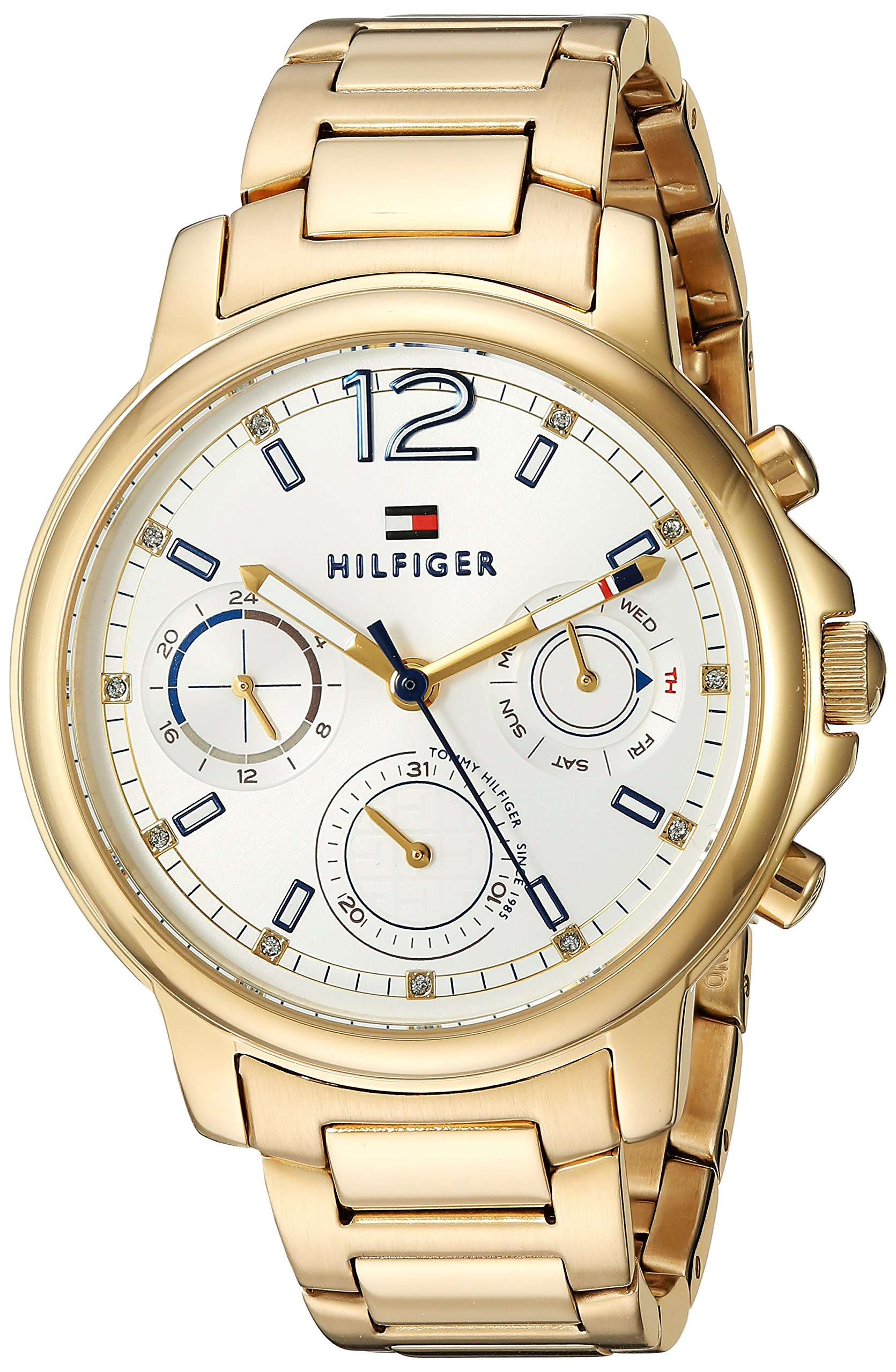 Tommy Hilfiger Women's 'CLAUDIA' Quartz Stainless Steel Casual Watch, Color:Gold-Toned (Model: 1781742) by Tommy Hilfiger
