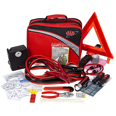 Lifeline 4388AAA Excursion Road, 76-Piece Car Air Compressor, Jumper Cables, Flashlight and First Aid Kit: Automotive