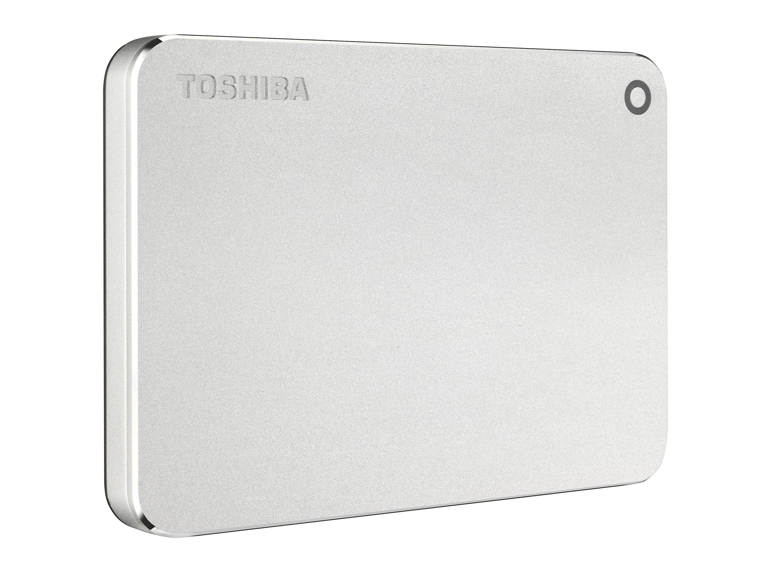 Toshiba Canvio Premium 2TB Portable External Hard Drive USB 3.0, Silver (HDTW220XS3AA)