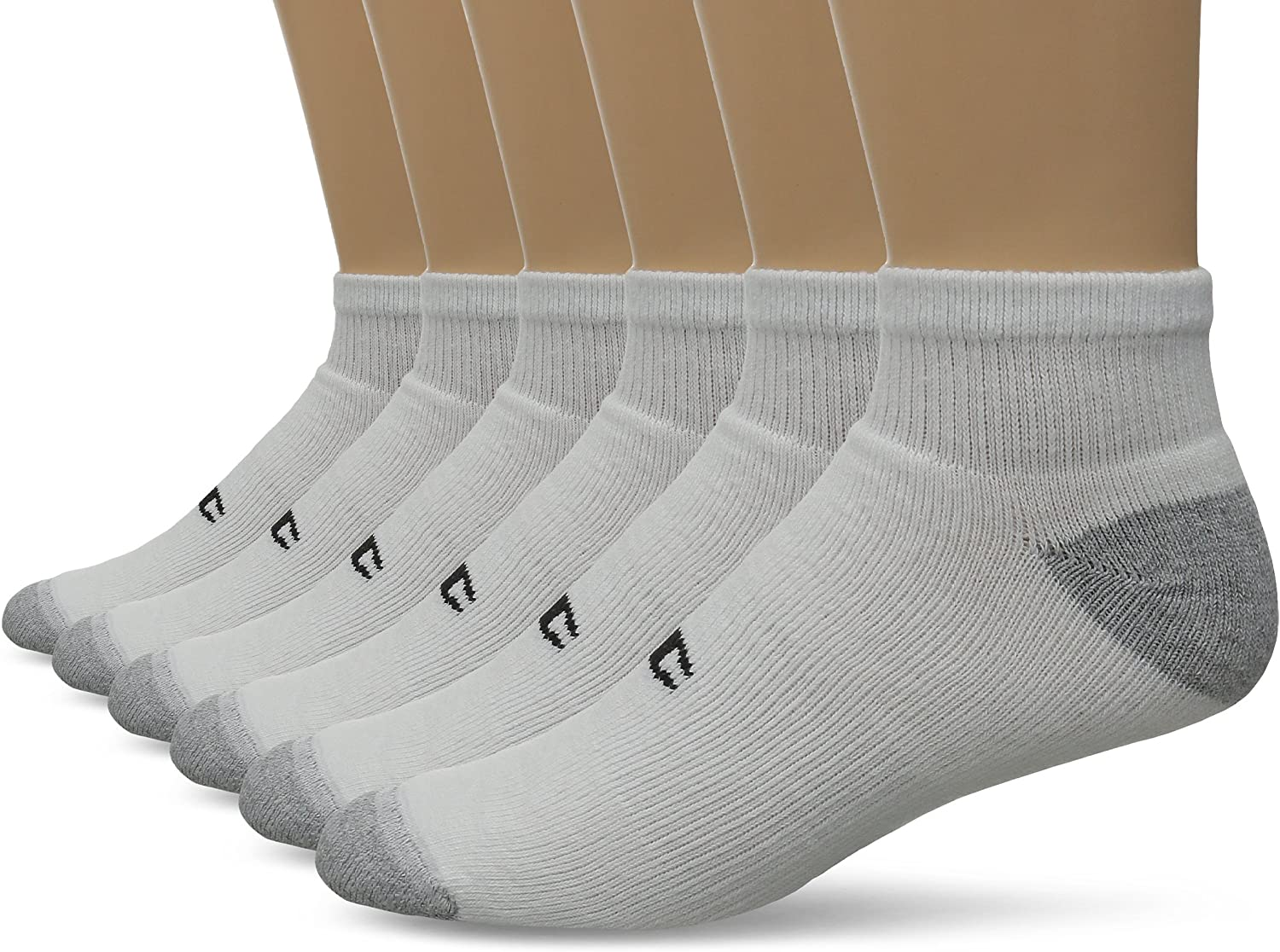 Champion Men's Double Dry Performance Quarter Socks, 6-Pack