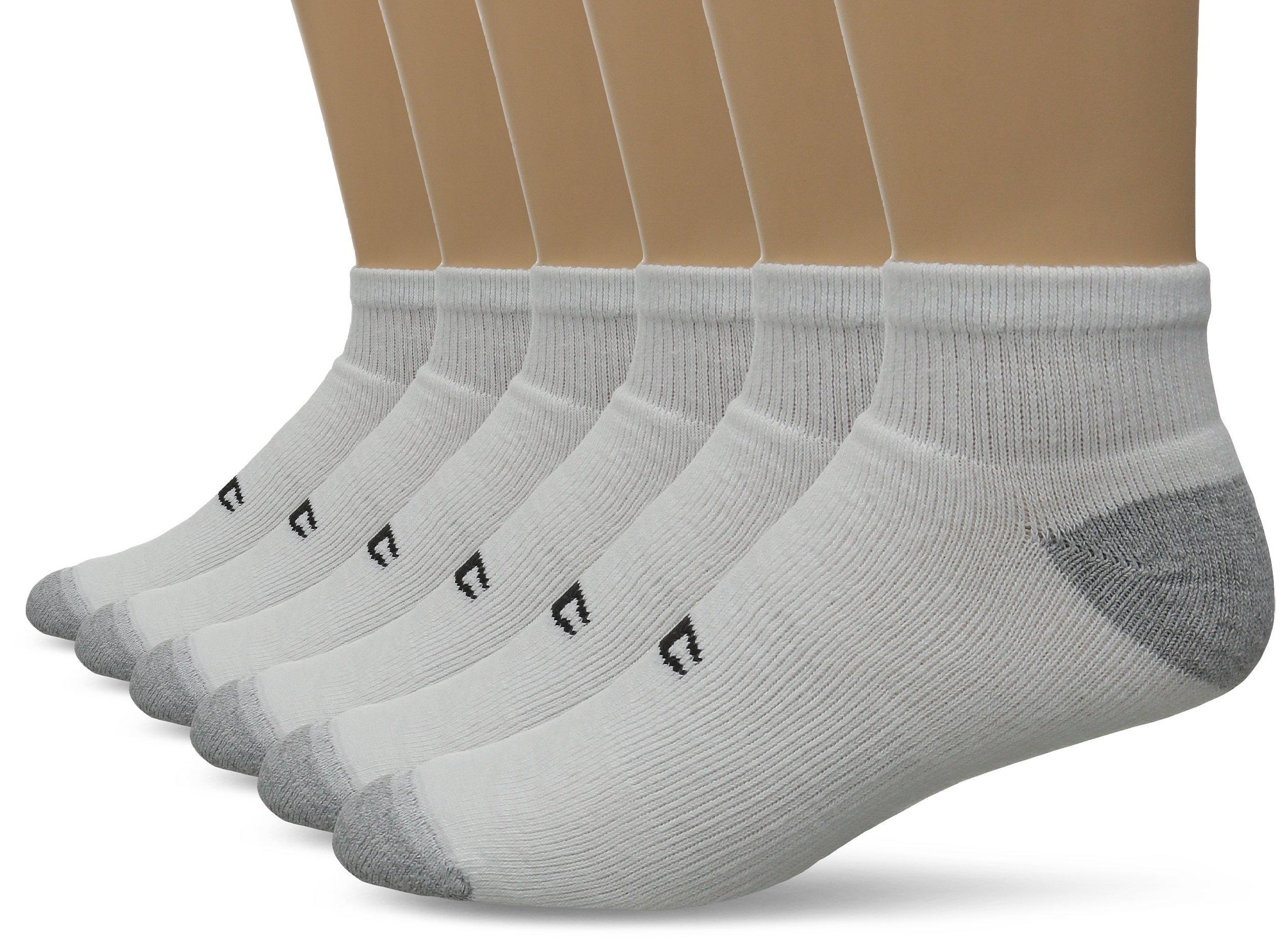 Champion Double Dry Performance Men's Quarter Socks 12-Pack_White_10-13