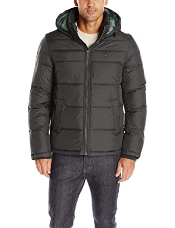 285909d5dc68a Amazon.com  Tommy Hilfiger Men s Classic Hooded Puffer Jacket  Clothing