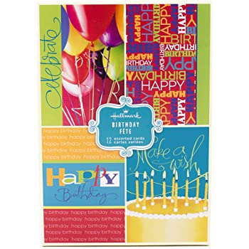 Amazon assorted birthday greeting cards hallmark birthday assorted birthday greeting cards hallmark bright icons 12 cards and envelopes m4hsunfo
