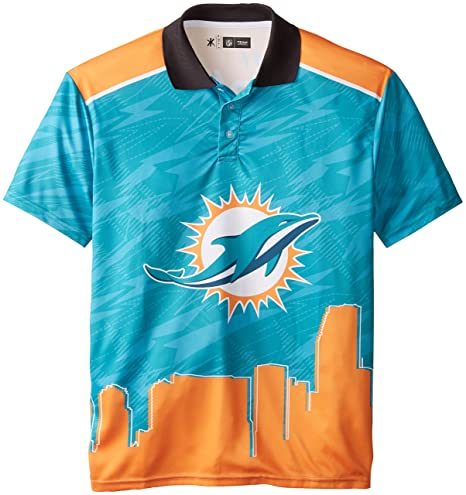 7c7af3d9 Miami Dolphins Polyester Short Sleeve Thematic Polo Shirt Double Extra Large