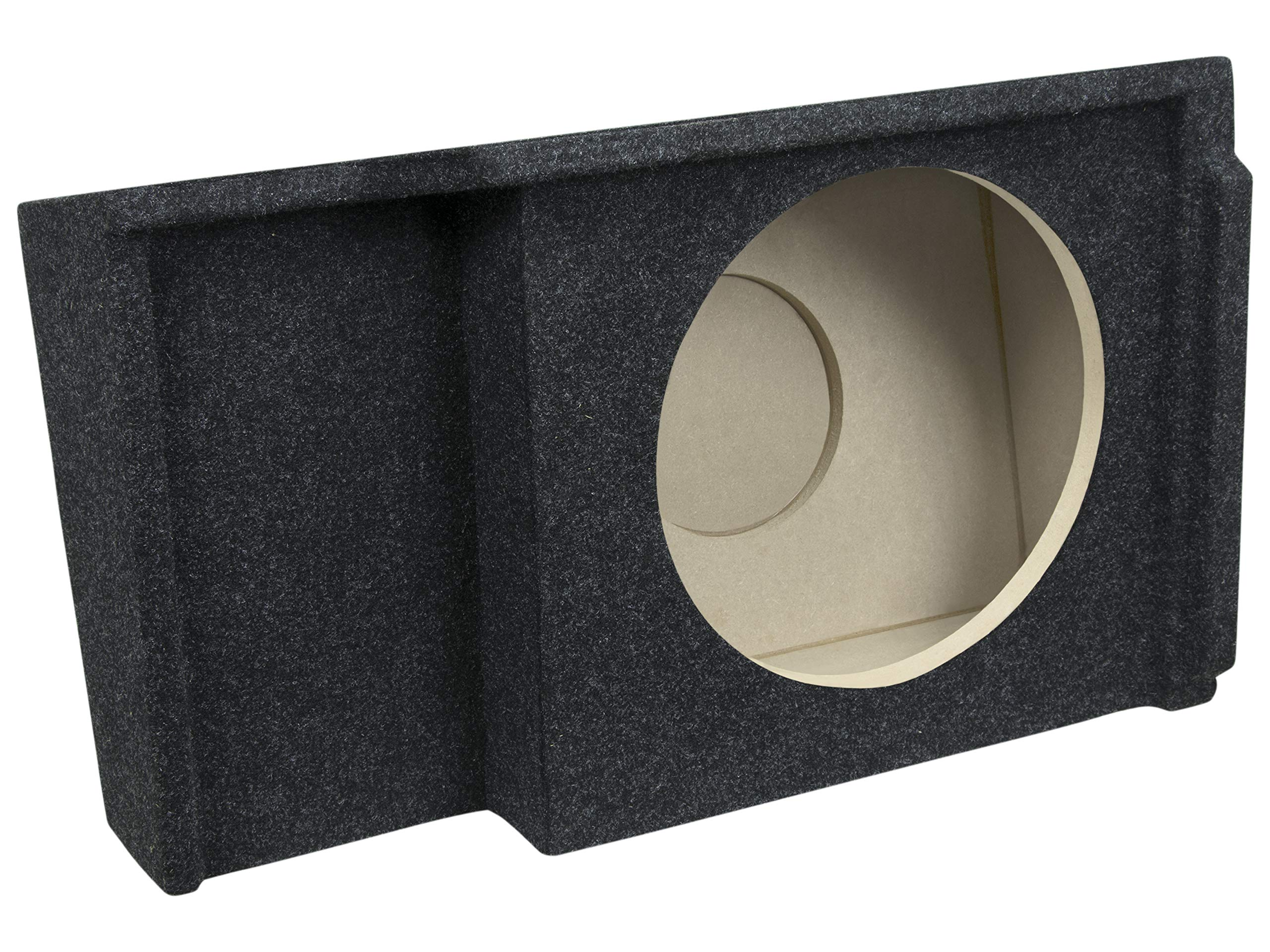 Bbox A151-12CP Single 12'' Sealed Carpeted Subwoofer Enclosure - Fits 1999-2007 Chevrolet/GMC Silverado/Sierra Extended Cab