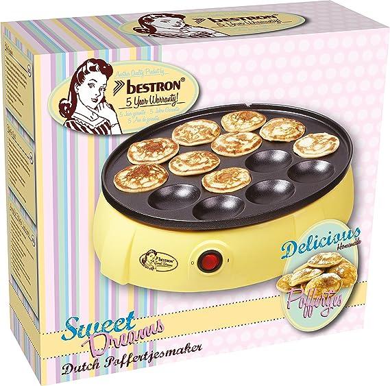 Bestron - Dld5009 - Gofrera Eléctrica, 650 W, Color Amarillo (Reacondicionado Certificado): Amazon.es