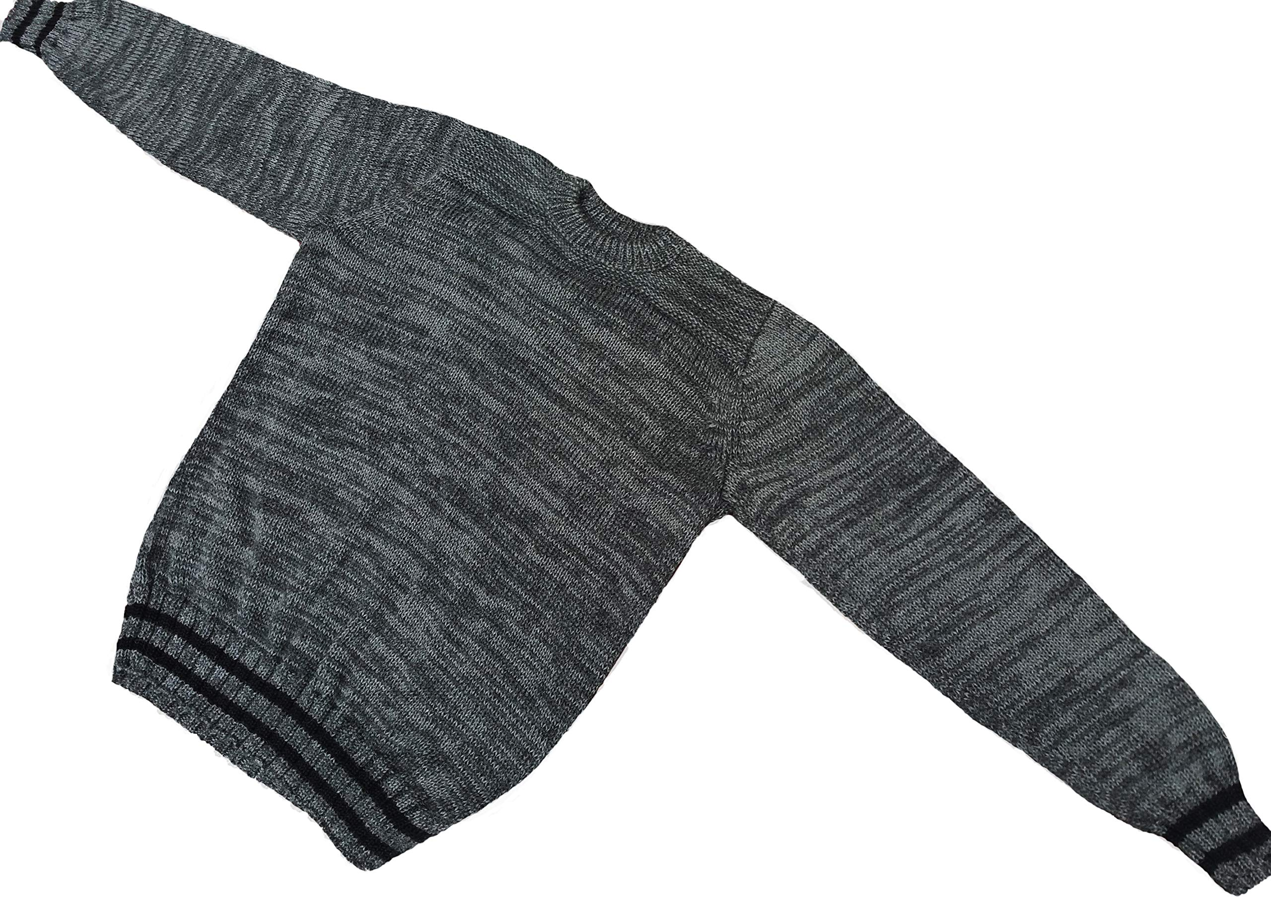 100% Royal Alpaca Sweater, Natural Dark Grey, XXXL
