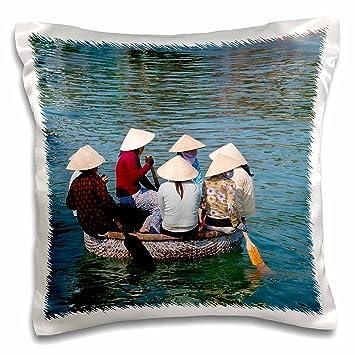 3drose Pc 133195 1 Frauen In Bambus Korb Boote Neha Trang