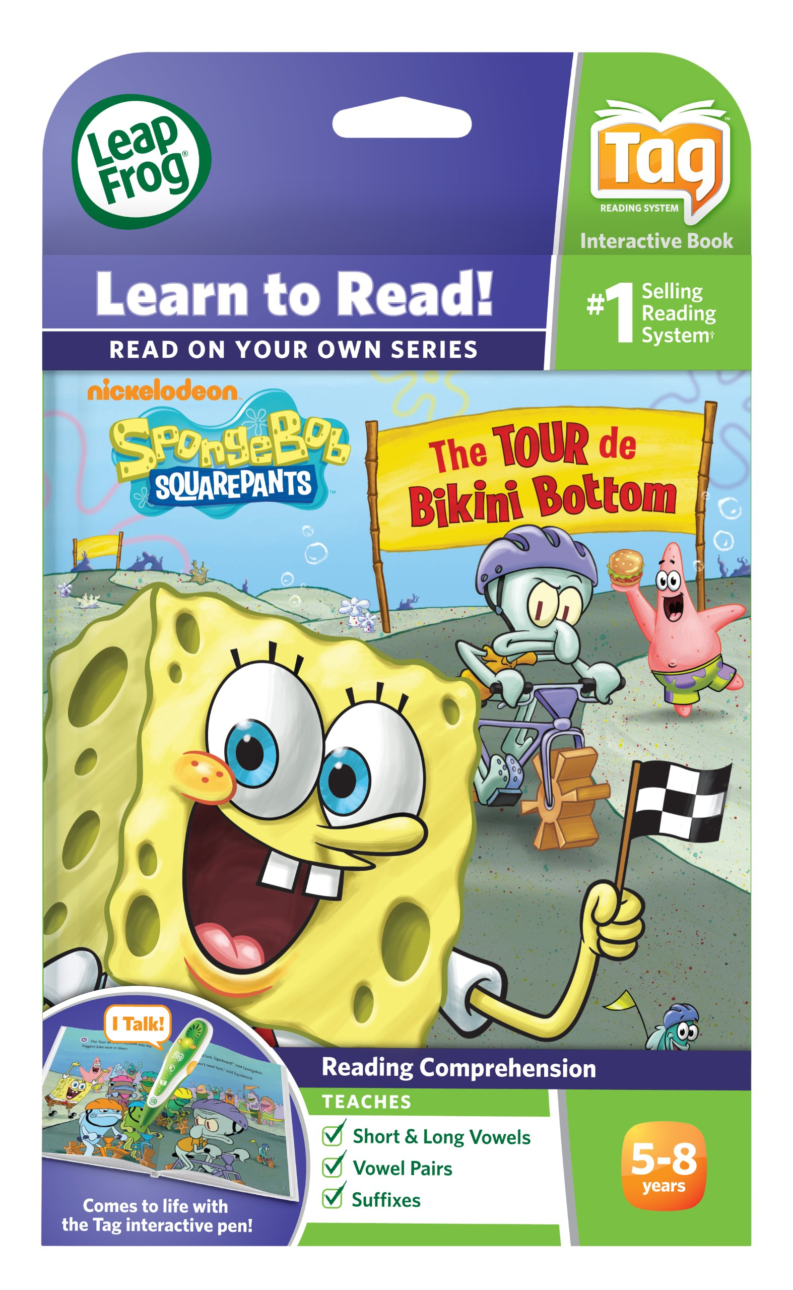 Leapfrog Tag Activity Storybook Spongebob Squarepants: The Tour De Bikini Bottom by LeapFrog (Image #5)