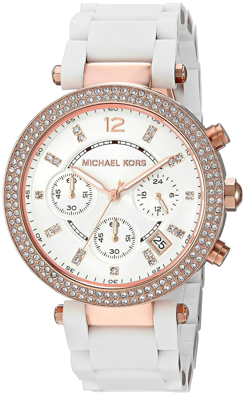 f89409a5a6b0 Amazon.com  Michael Kors Women s Parker Rose Gold-Tone Watch MK6405  Watches