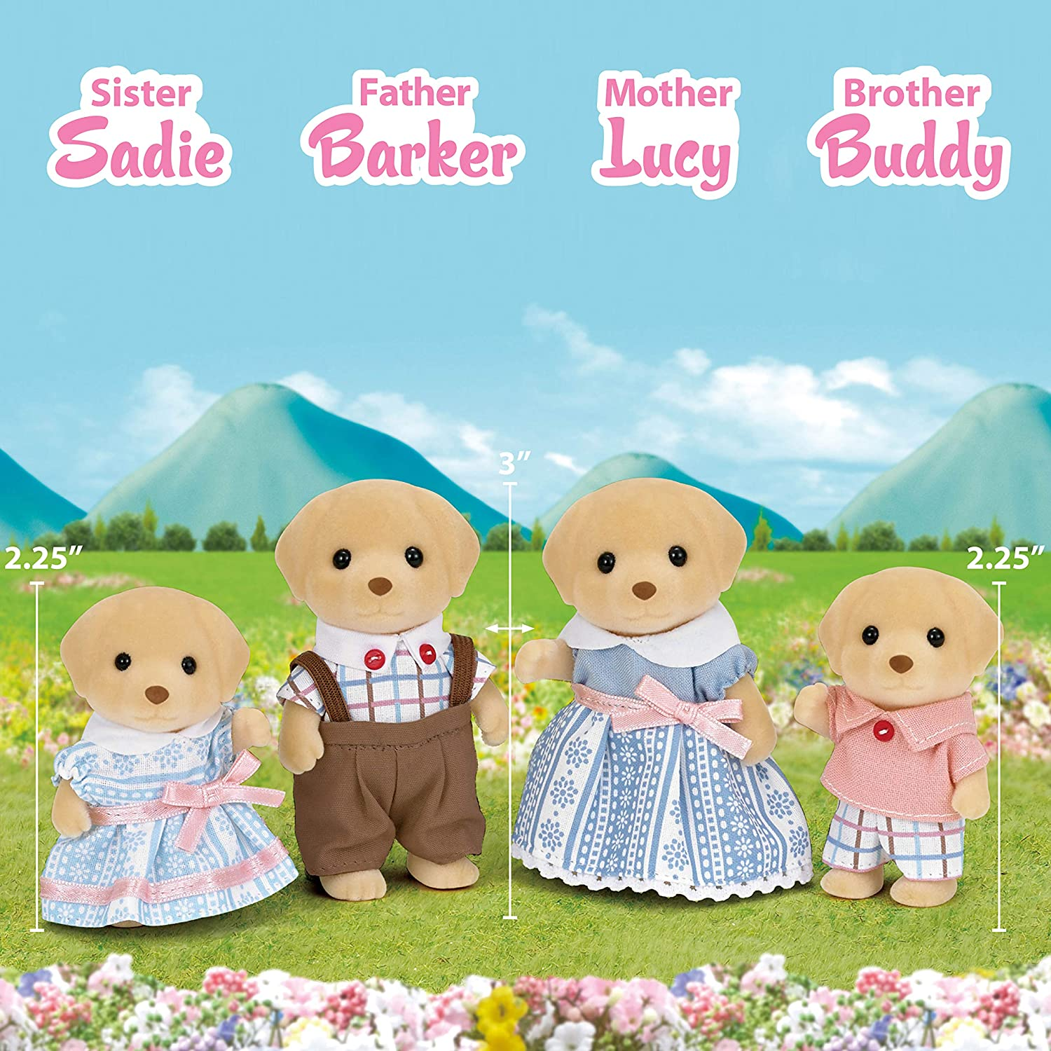CALICO CRITTERS YELLOW LABRADOR FAMILY NEW IN BOX