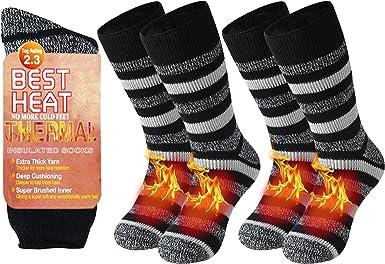 Warm Thermal Socks Sunew Women Men Winter Insulate Heat Thick Heavy Crew Socks