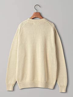 Medium Gauge Cotton Crewneck Sweater 1113-299-4322: Beige