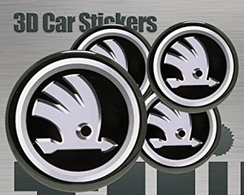 50 mm 3D Stickers 4 pcs Logo Imitation Center Cap Wheel Trims
