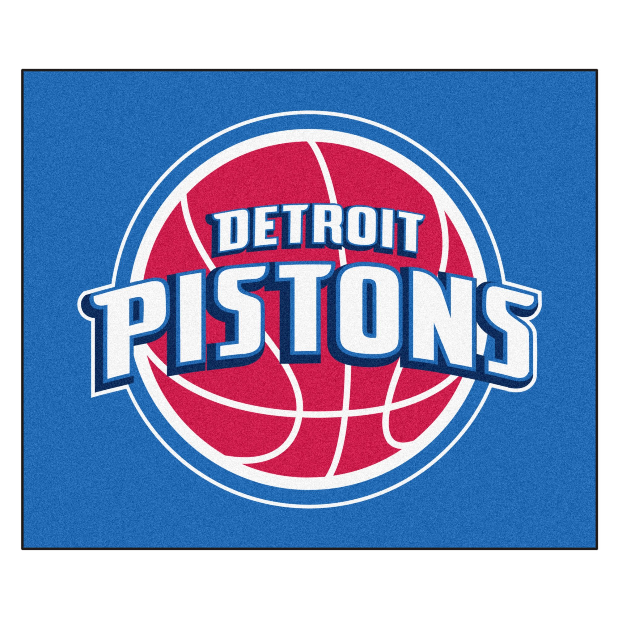 FANMATS 19439 NBA - Detroit Pistons Tailgater Rug , Team Color, 59.5''x71''