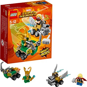 LEGO Super Heroes - Mighty Micros: Thor vs. Loki (76091): Amazon ...