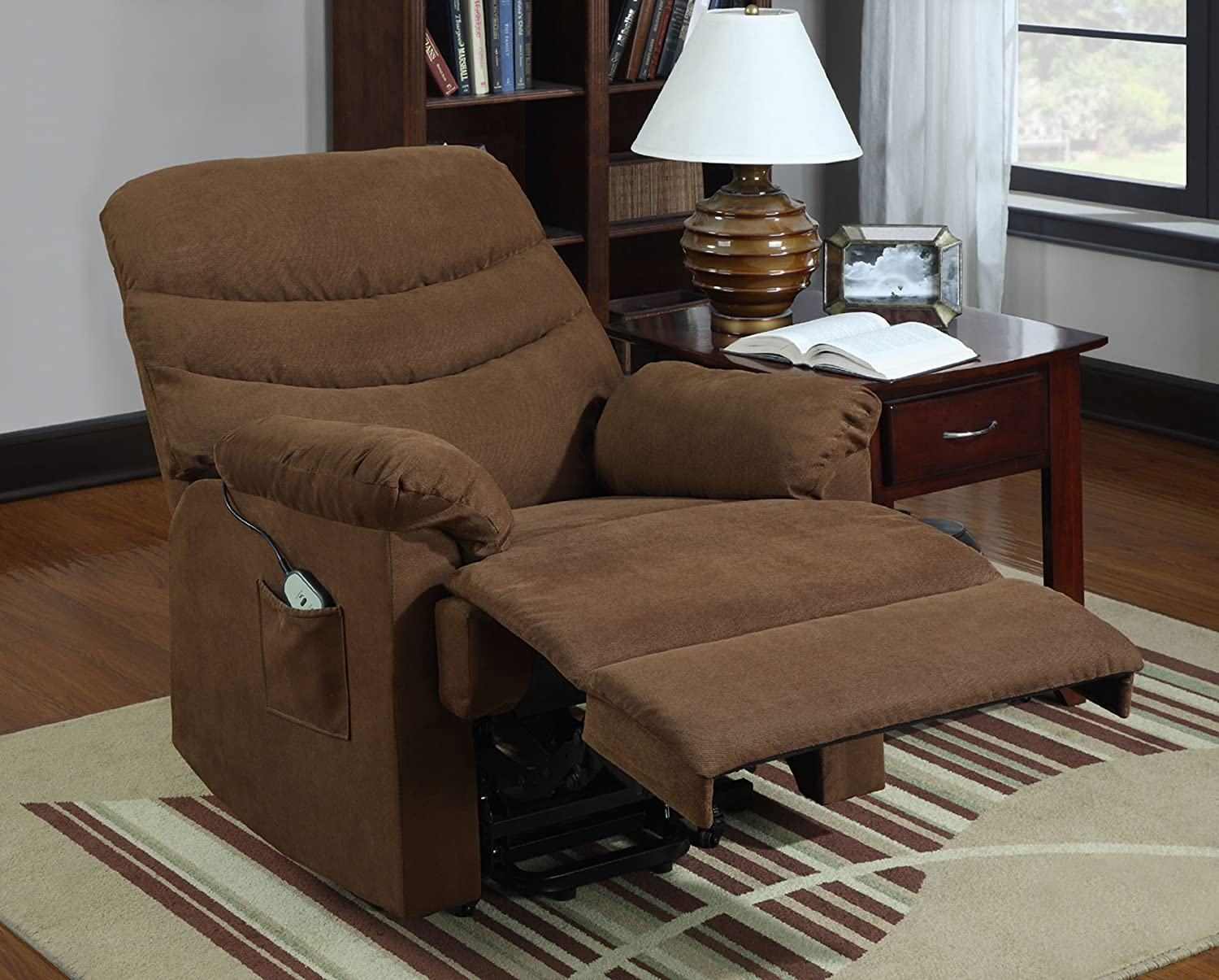 Amazon.com Homelegance Elevated 9769BR-1LT Power Lift and Recline Chair Chocolate Brown Microfiber Kitchen u0026 Dining & Amazon.com: Homelegance Elevated 9769BR-1LT Power Lift and Recline ... islam-shia.org