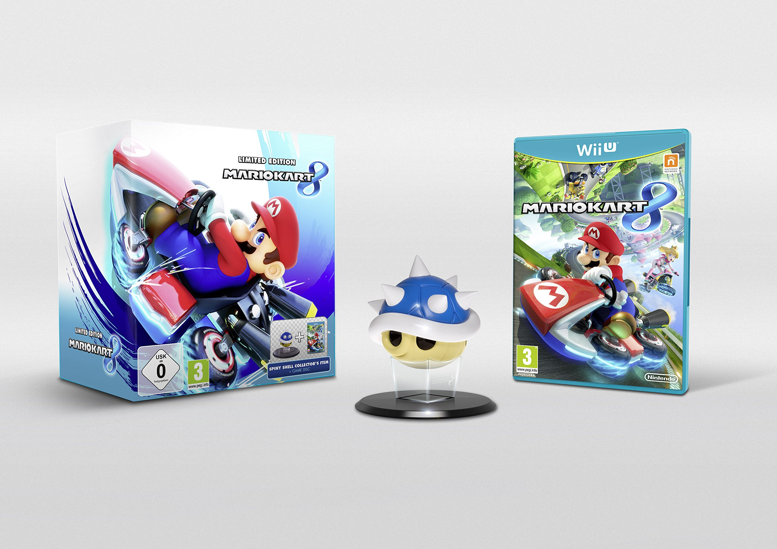 Mario Kart 8 Limited Edition with Spiny Blue Shell Collector's Item UK PAL Version[Nintendo Wii U] NEW