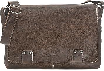 c572b6af137d0 Leder Umhängetasche Herren Damen Messenger Bag Leder DIN A4 Ledertasche  schwarz braun cognac grau blau 36