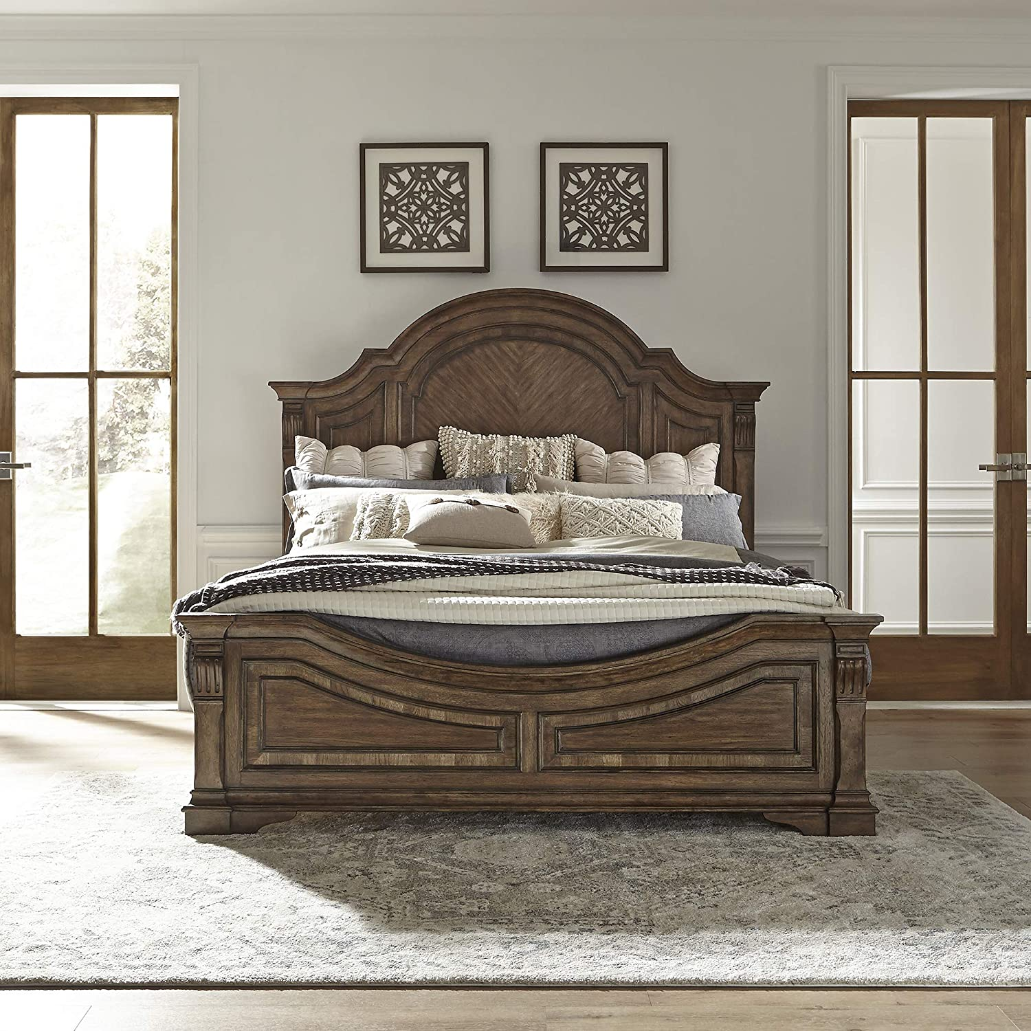 Amazon.com: Liberty Furniture Industries Haven Hall Panel Bed