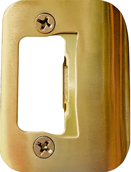 Merveilleux GATOR Door Latch Restorer   Strike Plate (Bright Brass)