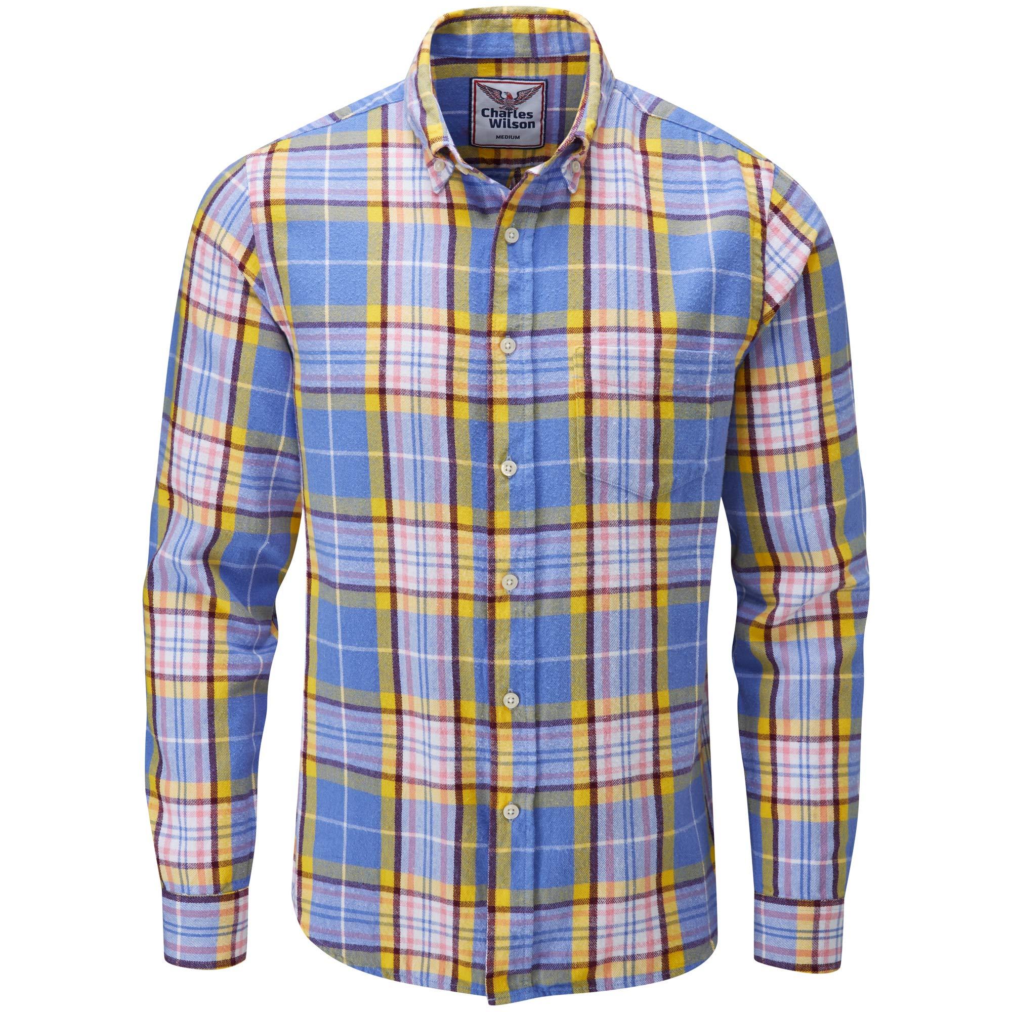92823a8462 Charles Wilson Camisa Franela de Cuadros Manga Larga para Hombre product  image