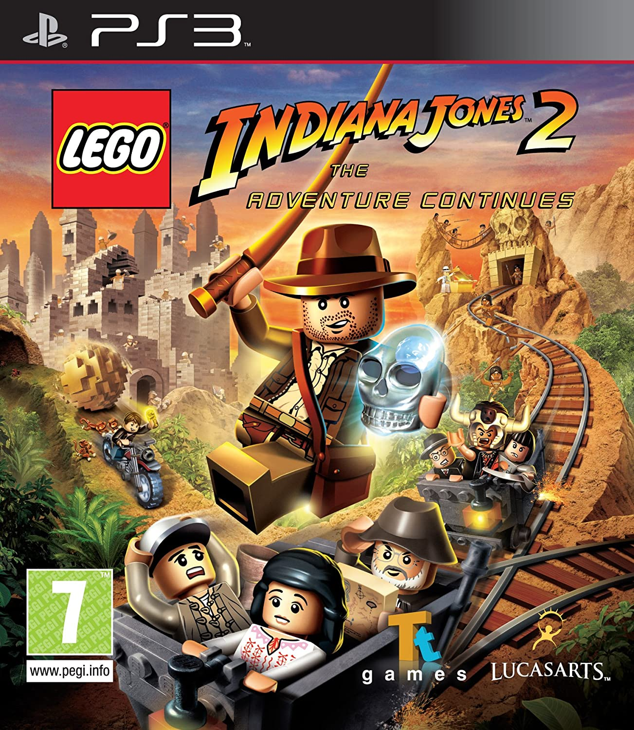 amazon com lego indiana jones ii the adventure continues ps3