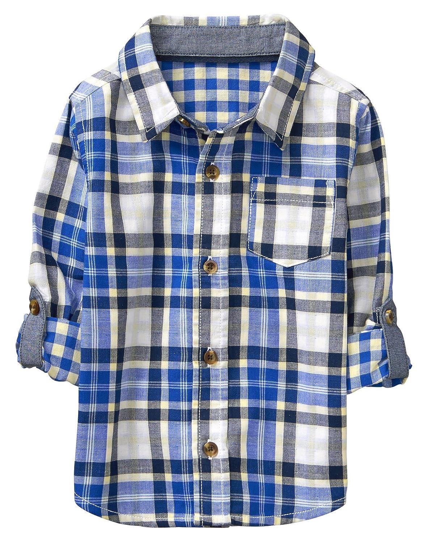 Crazy 8 Baby Boys' Toddler Long Sleeve Adjustable Button Down Woven Shirt