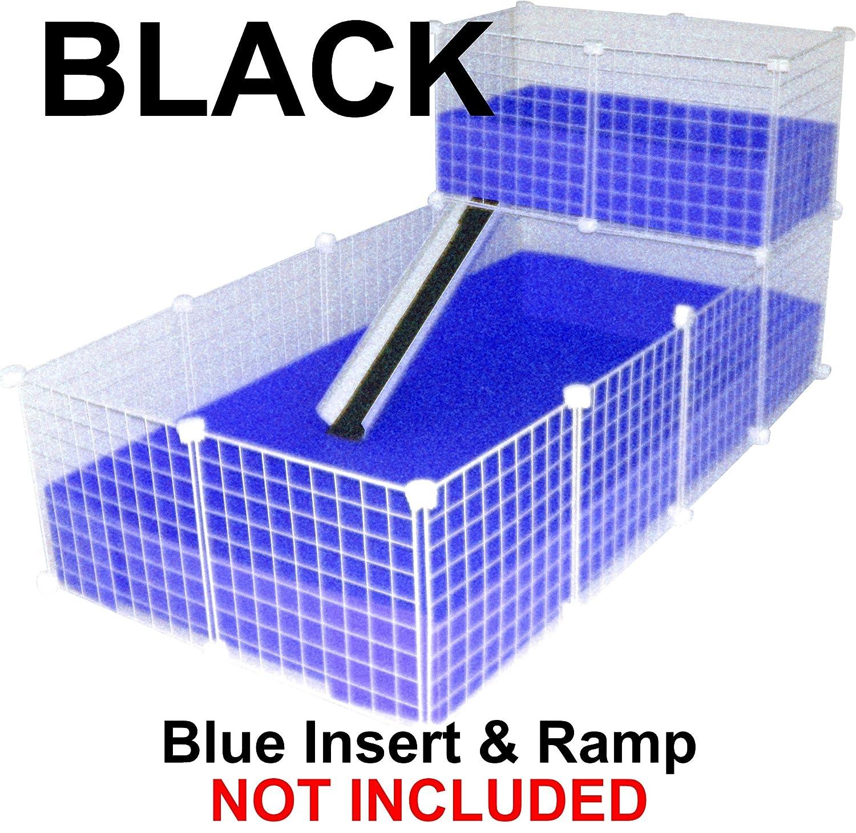 Black 4 x 2 plus 1x2 loft Black 4 x 2 plus 1x2 loft C& C Cage (4 x 2 plus 1x2 loft, Black)