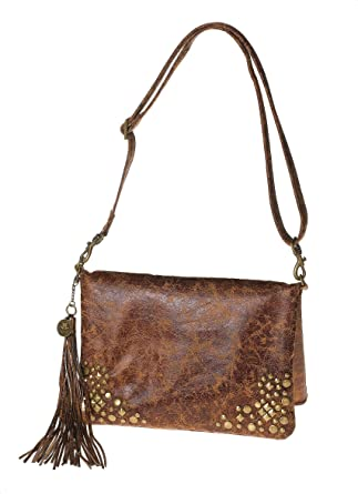 4019c5be98a8 La Rue Women's Distressed Studded Shoulder from The Devil Wears Prada  Motion Picture: Handbags: Amazon.com
