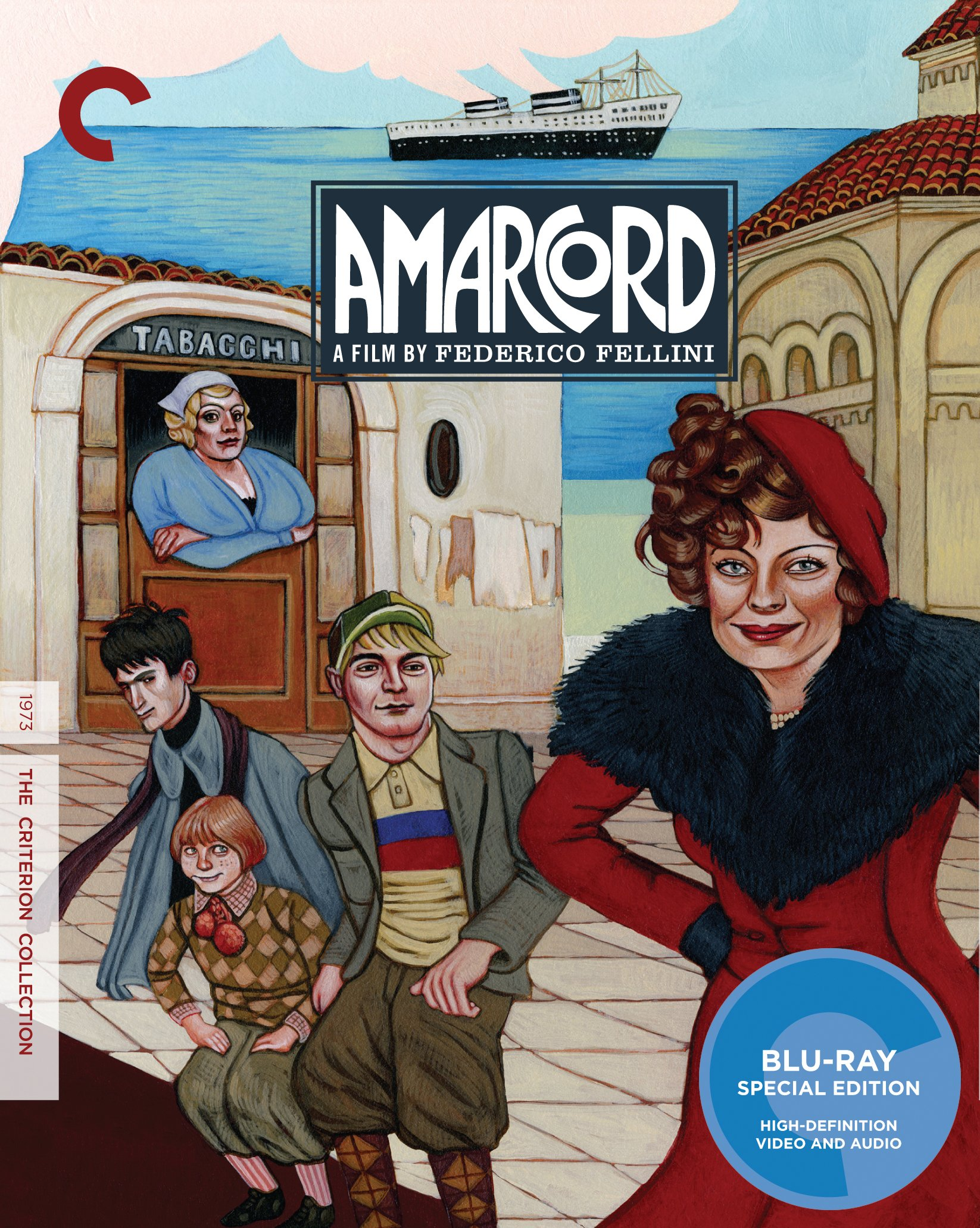 Blu-ray : Amarcord (Criterion Collection) (Special Edition, Widescreen, Dubbed, )