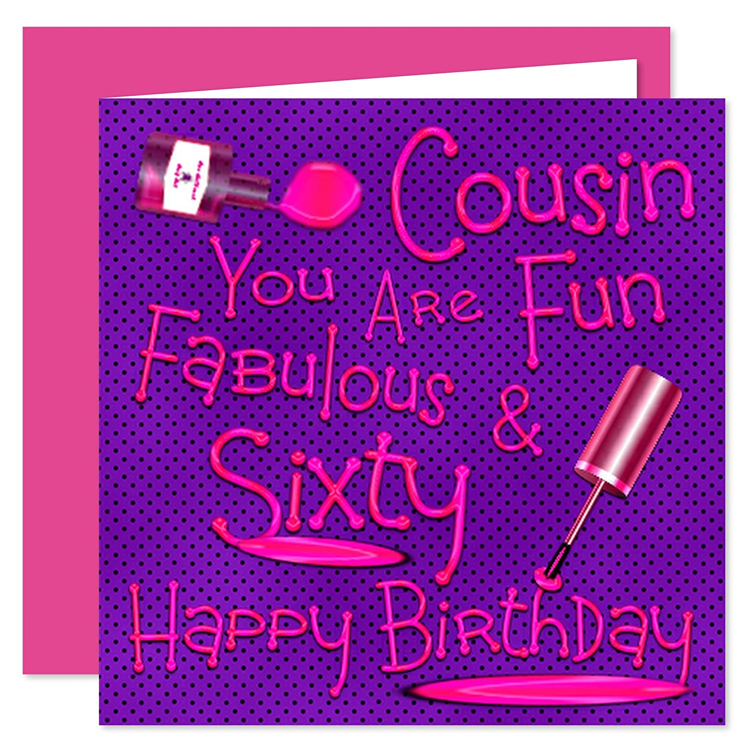 Cousin 60th Happy Birthday Card