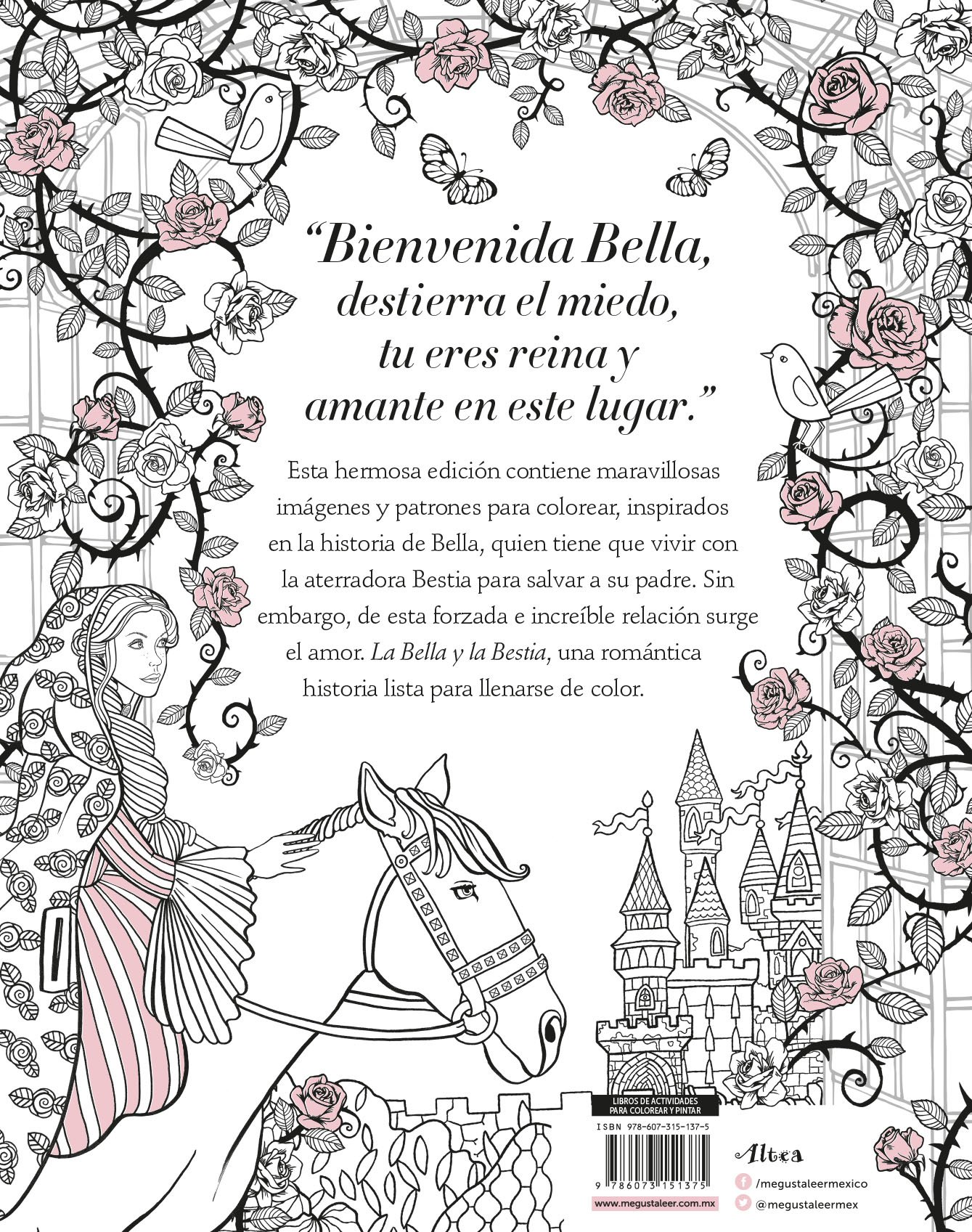 Increíble Belleza Y Bestia Para Colorear Colección de Imágenes ...