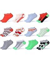 Gallery Seven Women's Ankle Socks - Low Cut Colorful Socks For Women - Size 9 -11 - 12 Pack