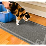 CleanHouse Premium Cat Litter Mat Phthalate Free Extra Large 36x24 Cat Mat Stops All Kitty Litter Tracking and Scatter…