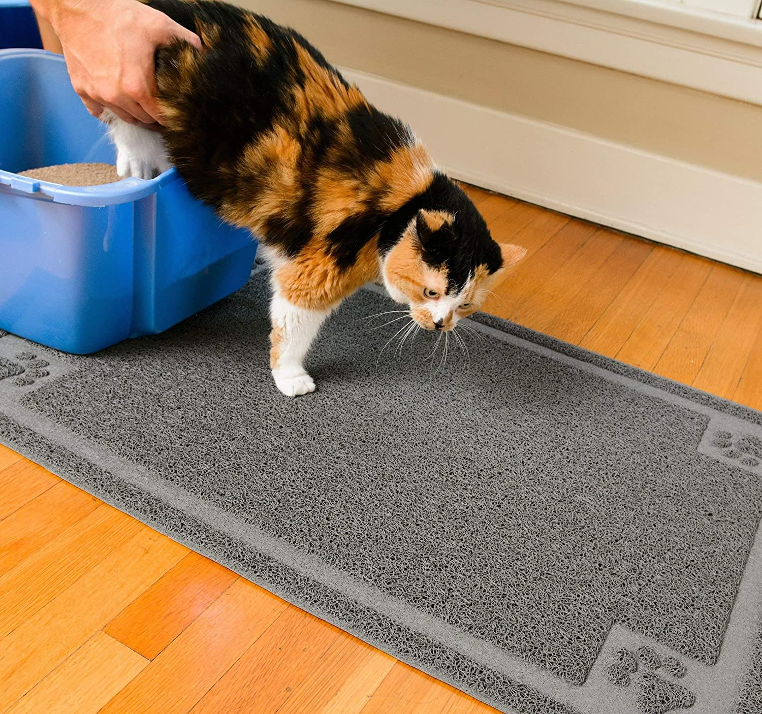 "CleanHouse Premium Cat Litter Mat, Phthalate Free, Extra Large 36""x24"", Cat Mat Stops All Kitty Litter Tracking and Scatter From Cat Litter Box"