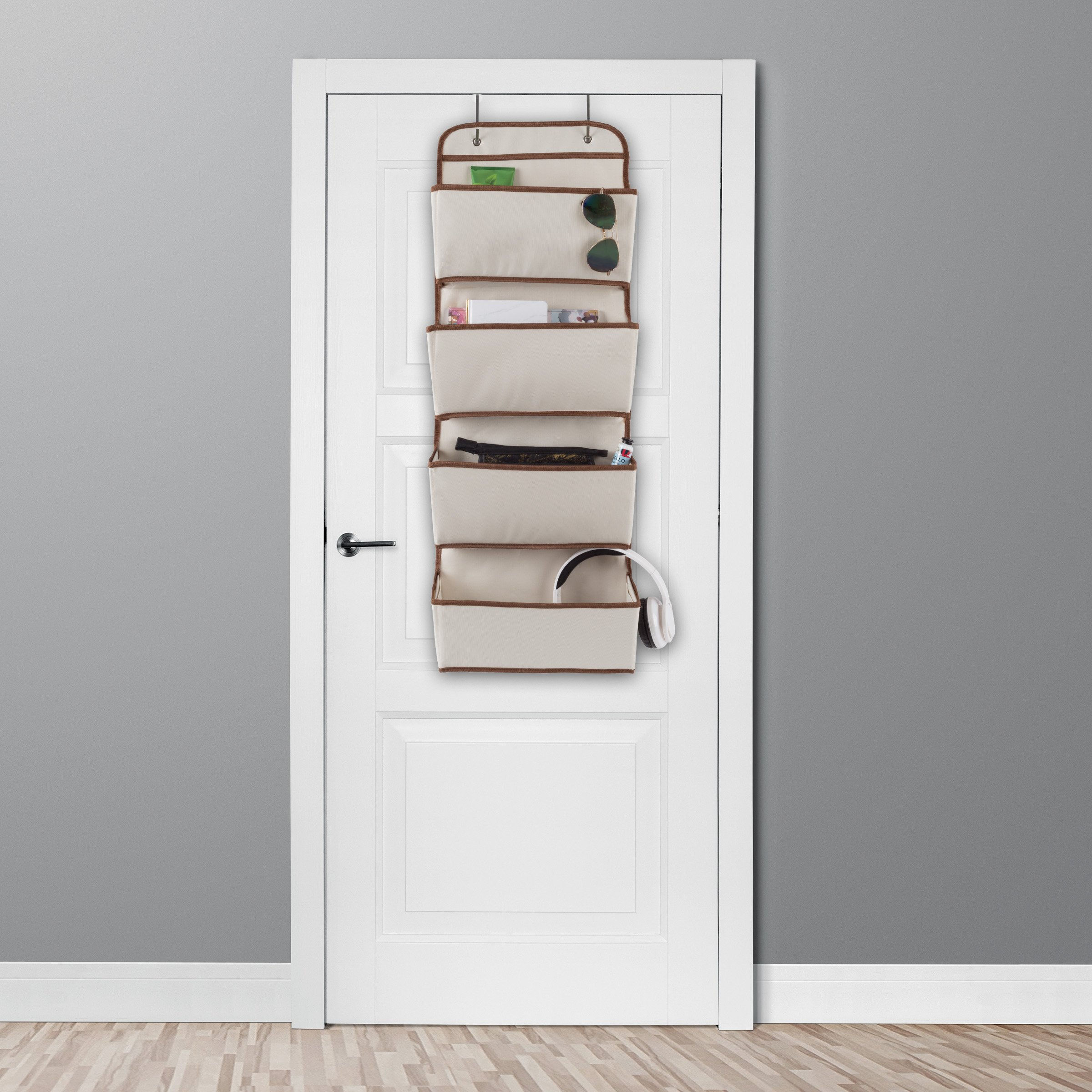 Lavish Home Over The Door Organizer-4 Pocket Hanging Storage Saves Space for Closet, Bedroom, Office-Store Books, Toys, Craft Supplies and More