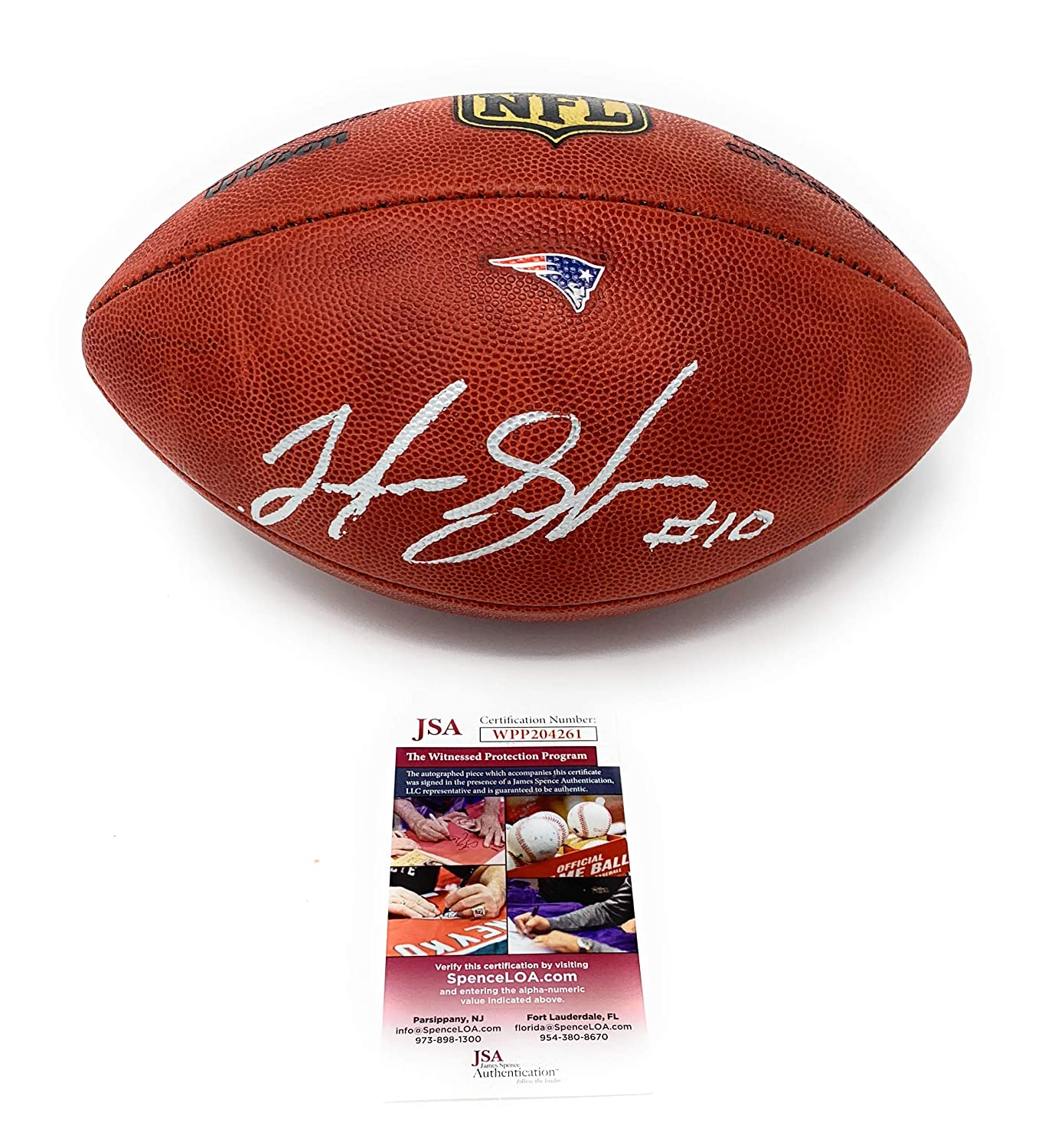 Josh Gordon New England Patriots Signed Autograph Authentic On Field Duke Football With TEAM LOGO Game Issue JSA Witnessed Certified