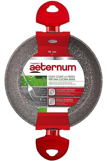 Petra Dura Come La Pietra.Aeternum Ruby Induction Casserole Aluminium Red Stone 18 Cm Rosso