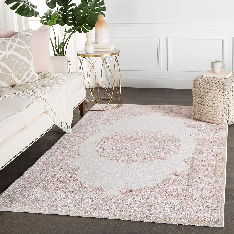 Jaipur Living Malo Medallion White Area Rug 5 X 7 6 Furniture Decor Amazon Com
