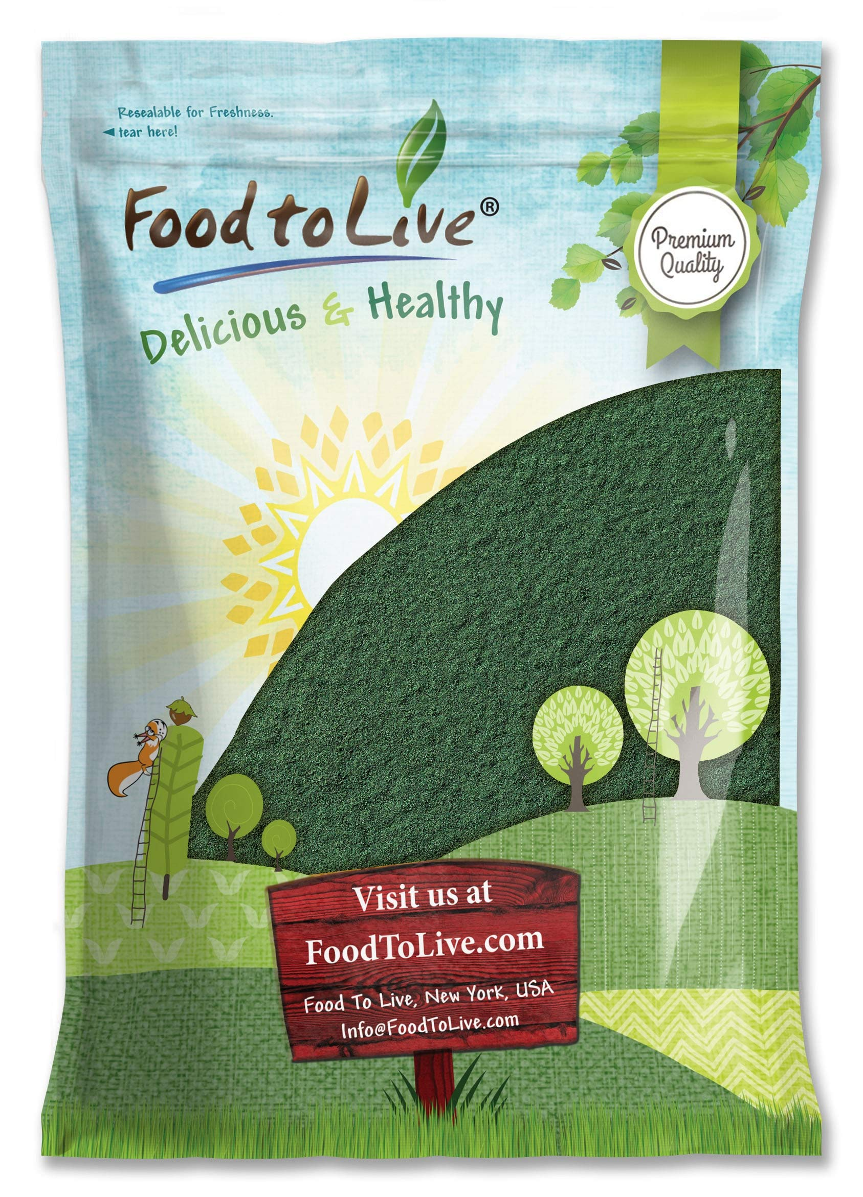 Chlorella Powder, 8 Pounds - Kosher, Raw Green Algae, Vegan Superfood, Bulk, Pure Vegan Green Protein, Rich in Vitamins and Minerals, Great for Drinks, Teas and Smoothies