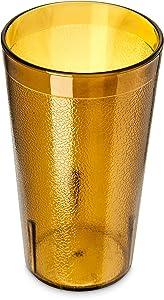 Carlisle 5212-8113 BPA Free Plastic Stackable Tumbler, 12 oz., Amber (Pack of 6)