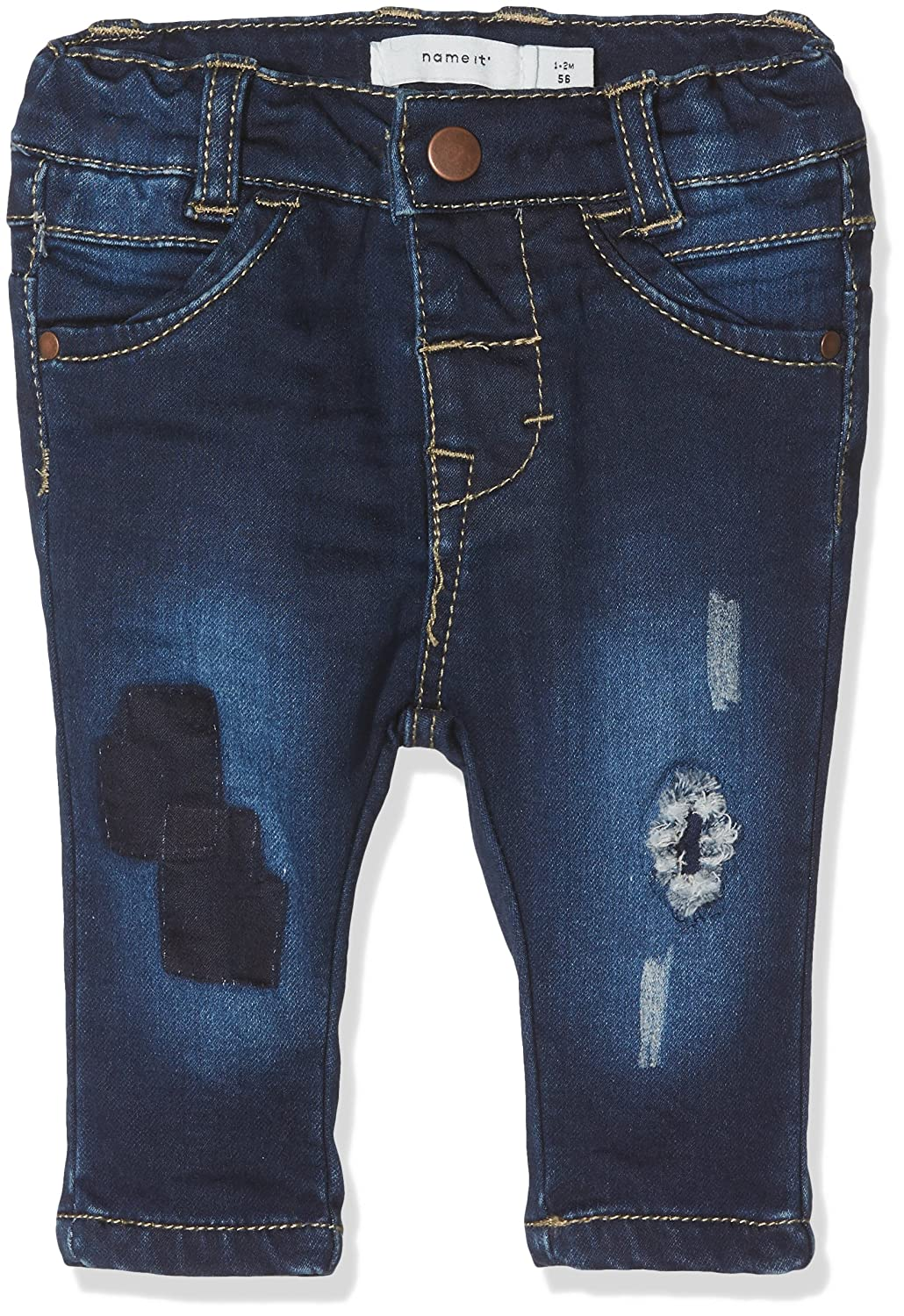 Name It Nitbawait Slim DNM Pant Bru F NB, Jeans Bébé Fille 13144525