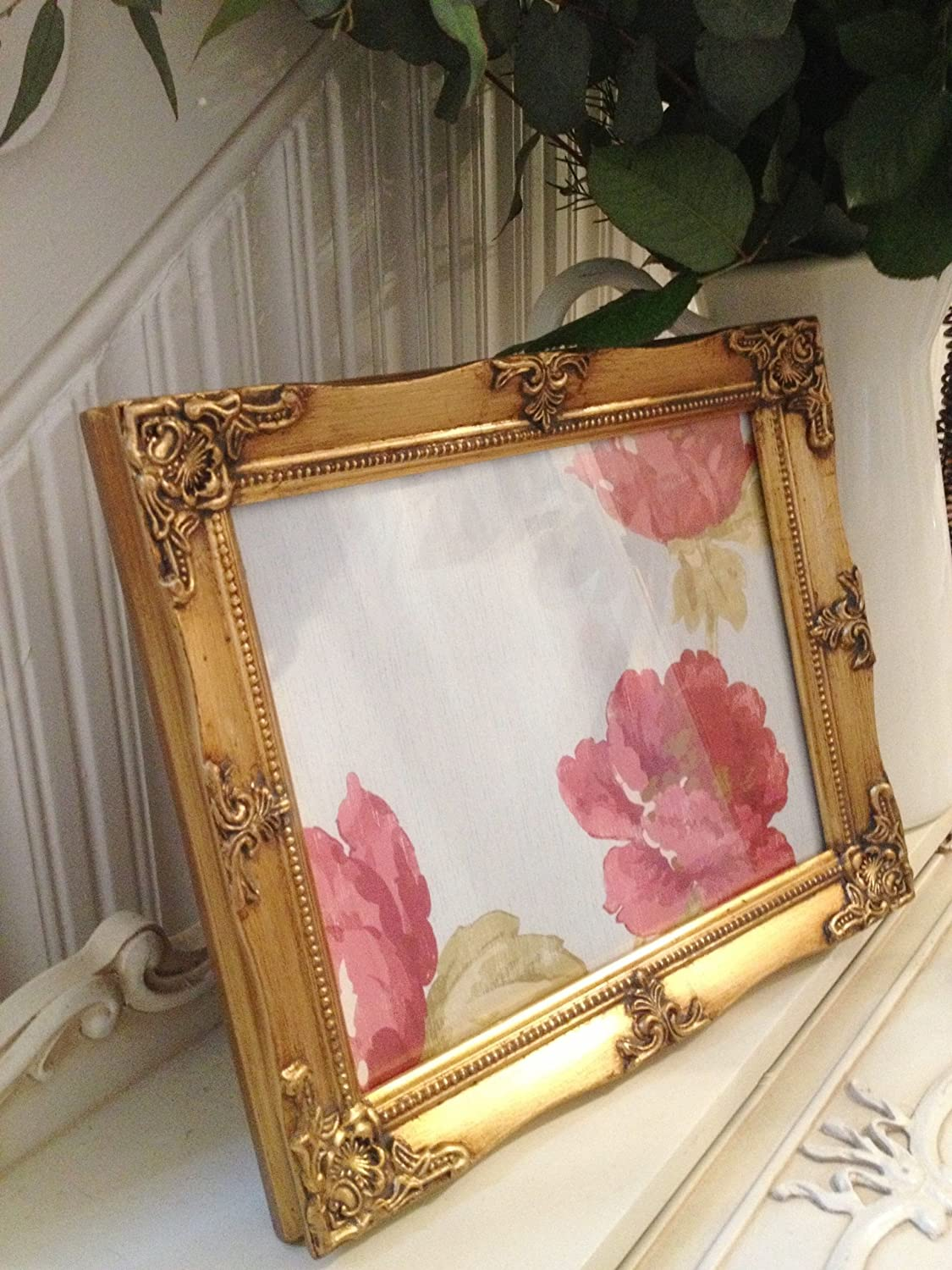 Antique Gold Ornate Picture frame 8x10: Amazon.co.uk: Kitchen & Home