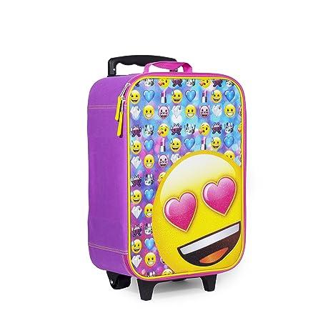 best kids luggage moji Pink Heart Eyes