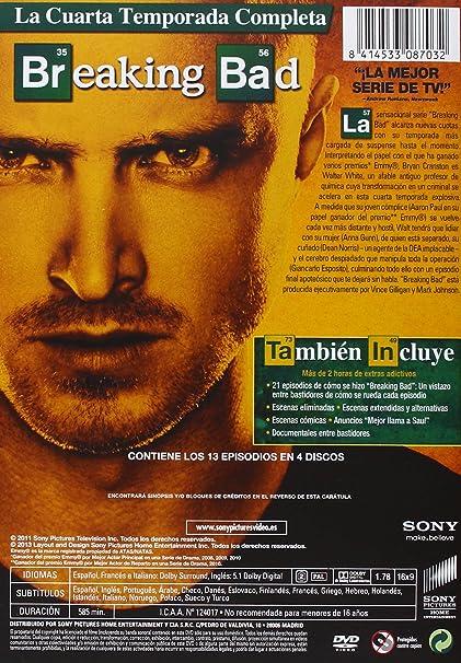 Amazon.com: Breaking Bad - Temporada 4 (Import Movie) (European ...