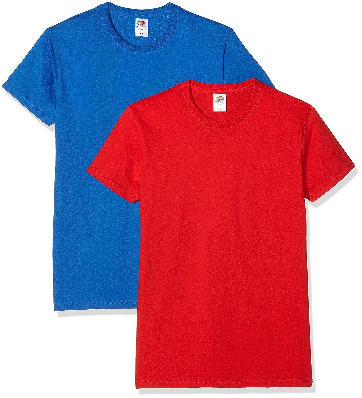 Fruit of the Loom Herren T-Shirt Mens Sofspun T 2er Pack: Amazon.de:  Bekleidung